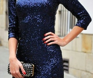 blue, sparkly dress, and gorgeous image