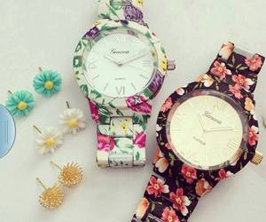 watch, flowers, and accessories image
