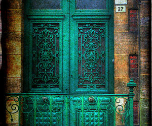 door, green, and blue image