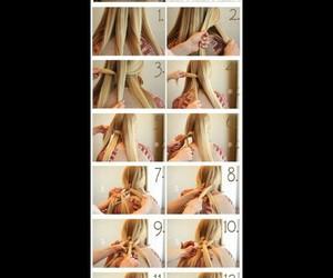 braid, hair, and plait image