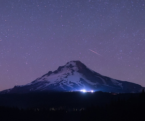 mountains, nature, and night image