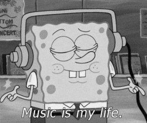 music, life, and spongebob image