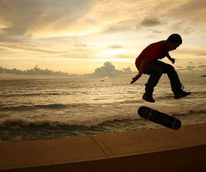 skate, sea, and boy image