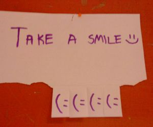 smile, take, and text image