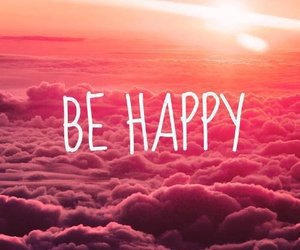 red, sun, and be happy image
