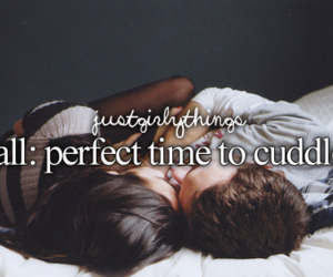 cuddle, fall, and love image