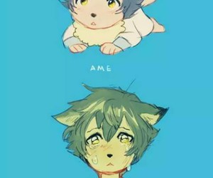ame, anime, and wolf image