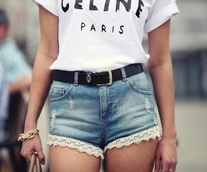 fashion, shorts, and celine image