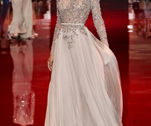 dress, elie saab, and model image