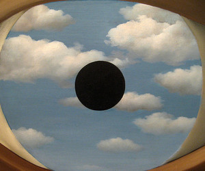 eye, rene magritte, and manhattan image