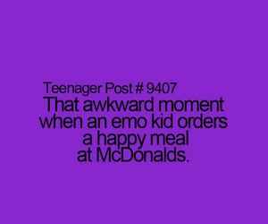 McDonalds, happy meal, and emo kid image