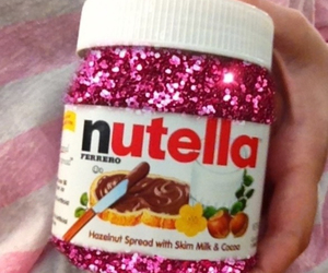 nutella, pink, and glitter image