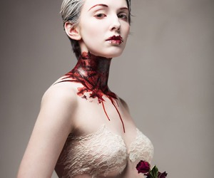 blood, Halloween, and romantic image