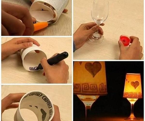 lamp, candle, and diy image
