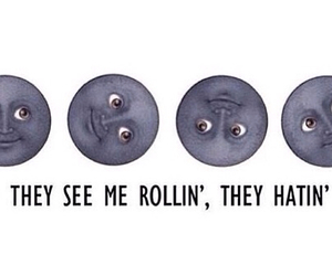 moon, funny, and tumblr image