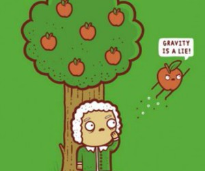 apple, funny, and tree image