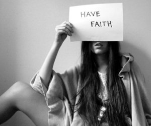 girl, faith, and black and white image