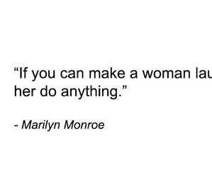 quote, laugh, and woman image