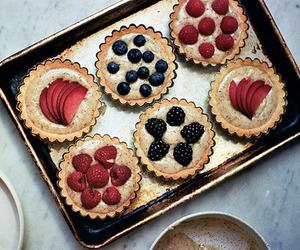 food, cake, and fruit image