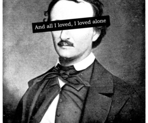 edgar allan poe, love, and black and white image