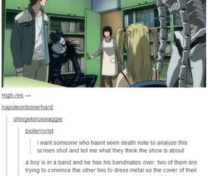 tumblr, anime, and death note image