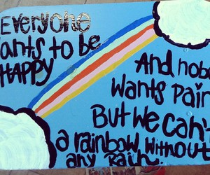 paint, rainbow, and table image