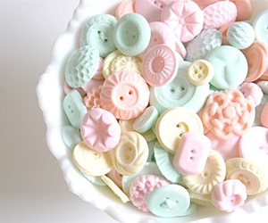 buttons, pastel, and sweet image
