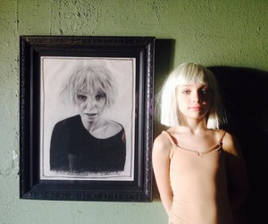 blonde, girl, and chandelier image