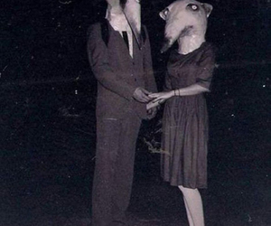 Halloween, couple, and scary image