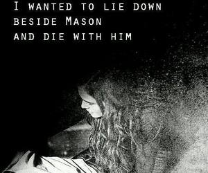 death, Mason, and rose image