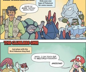 pokemon and tipe of pokemon trainer image