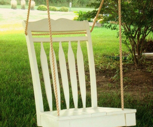 chair, diy, and swing image