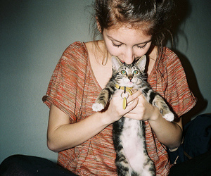 cat, *+*+*+*, and girl image