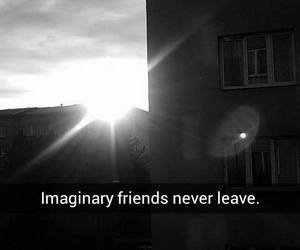 alone, black and white, and imagine image