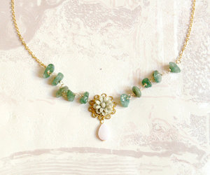 green, jewelry, and pastel image