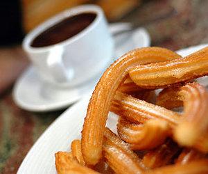 churros, chocolate, and dessert image