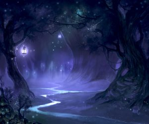 forest, fantasy, and purple image