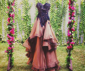 autumn, gown, and wedding image