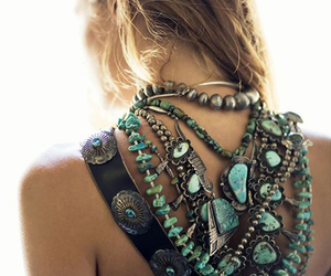 boho, accessories, and turquoise image