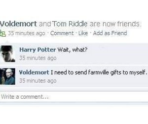 lol, facebook, and harrypotter image