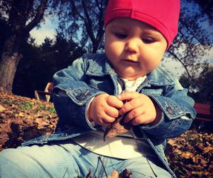 autumn, babe, and baby image