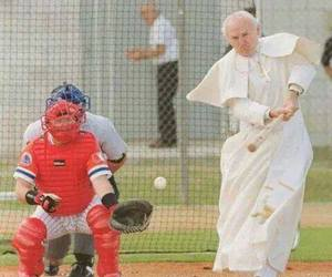 pope, john paul ii, and karol wojtyla image