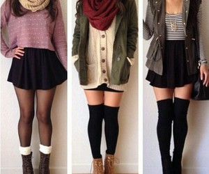 cute girl, fall outfit, and teen outfit image