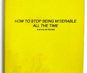 book, yellow, and miserable image