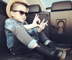 hat, sun glasses, and kid's fashion image
