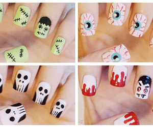 nails, Halloween, and art image