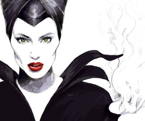 maleficent, black, and black and white image
