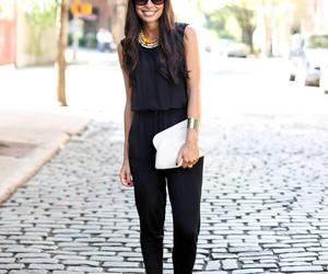 black, fashion, and jumpsuit image