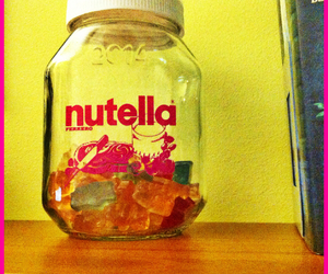gummy bears, nutella, and sweet image