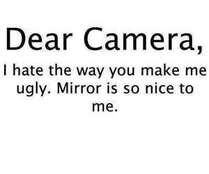camera, mirror, and ugly image